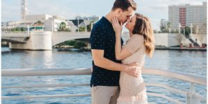 Tampa River Walk Engagement Photography